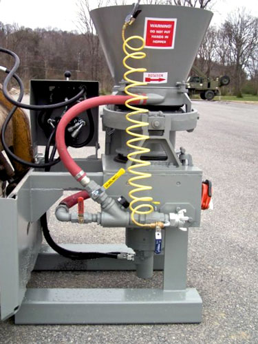 Gunite Skid mounted attachment