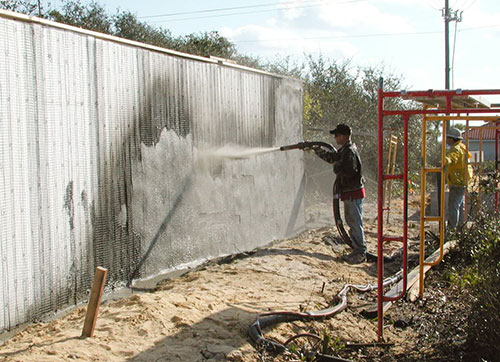 AA-020 concrete wall