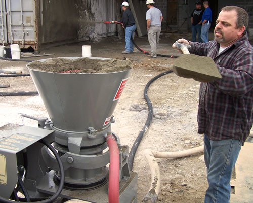 Filling Gunite Machine Attachment