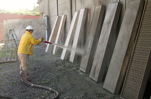 Hydrostatic Rotary Gun Concrete Panels