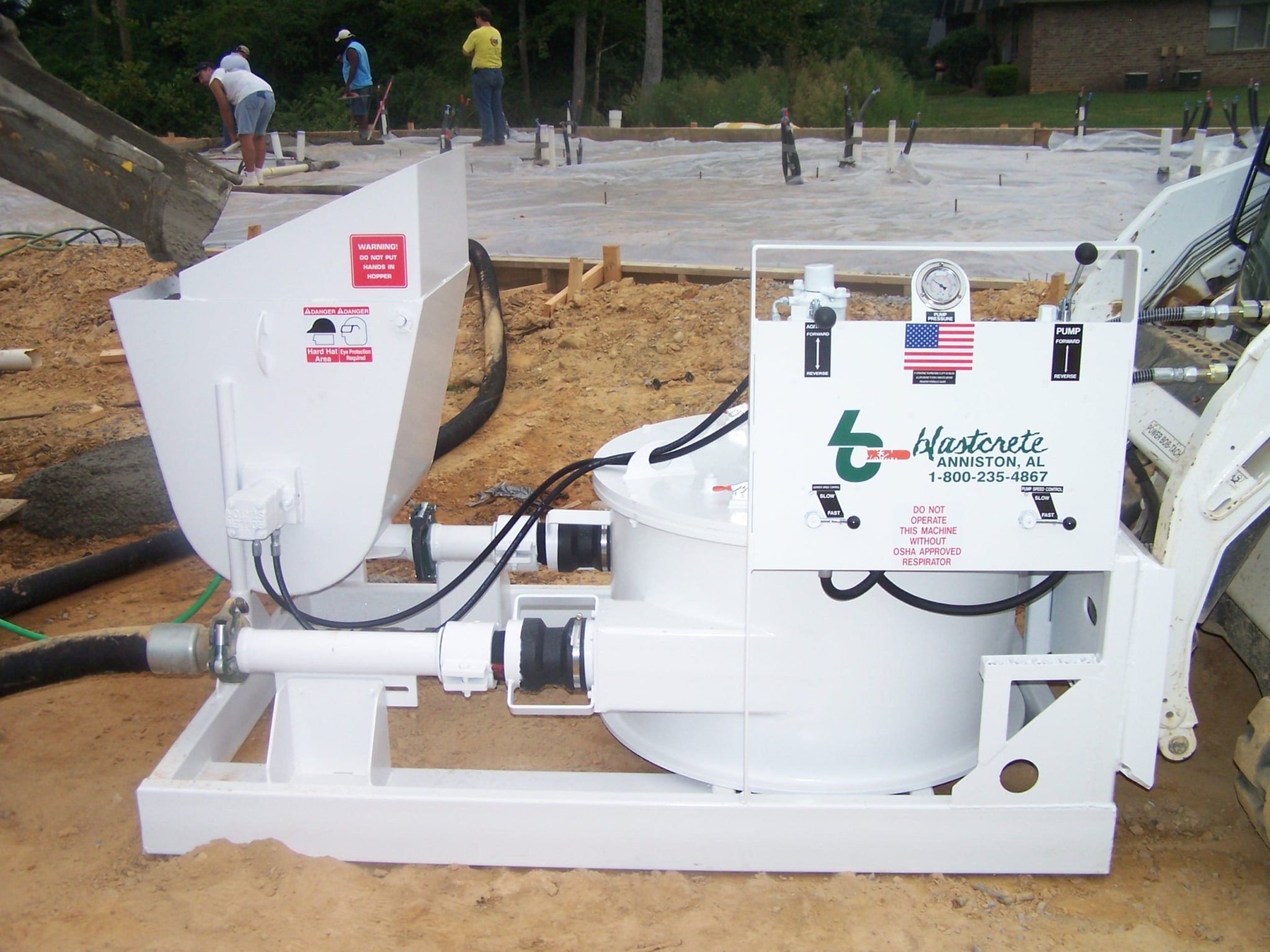 Hydraulic Pump Basement : Skid steer pump features universal design blastcrete