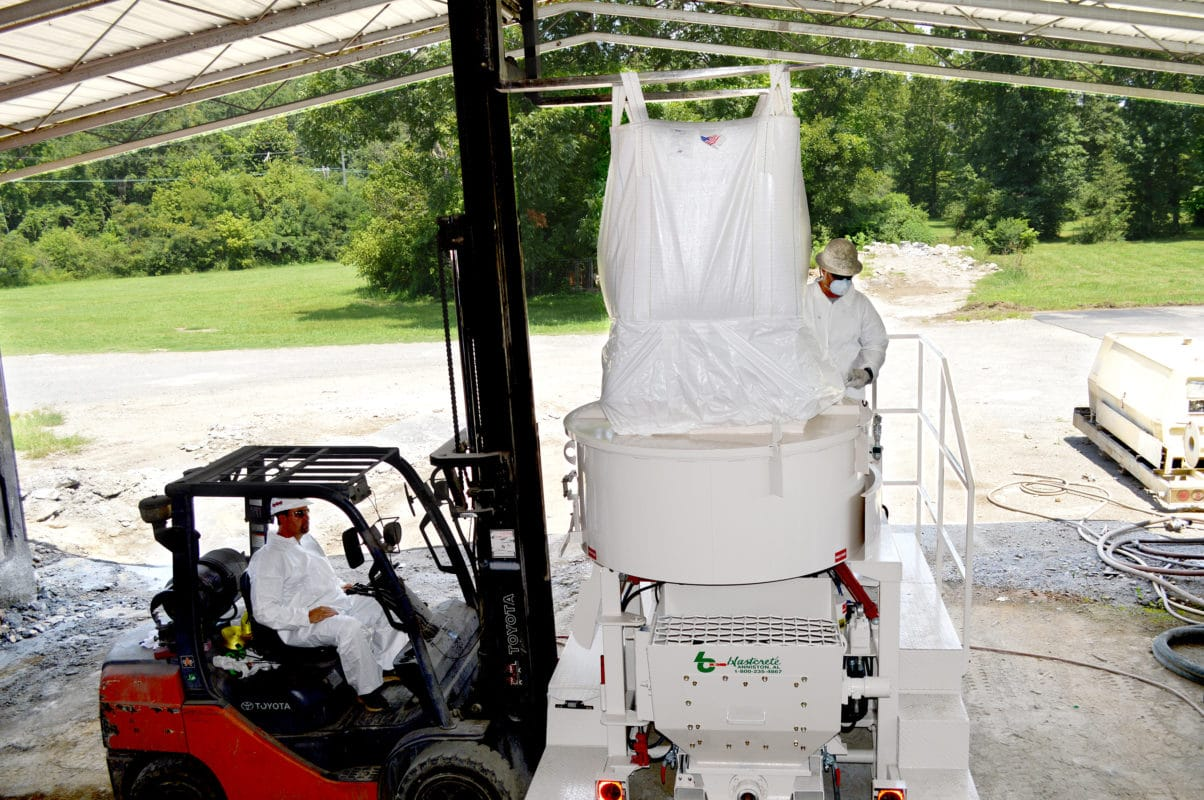 Blastcrete Dust Away System for Large concrete mixers
