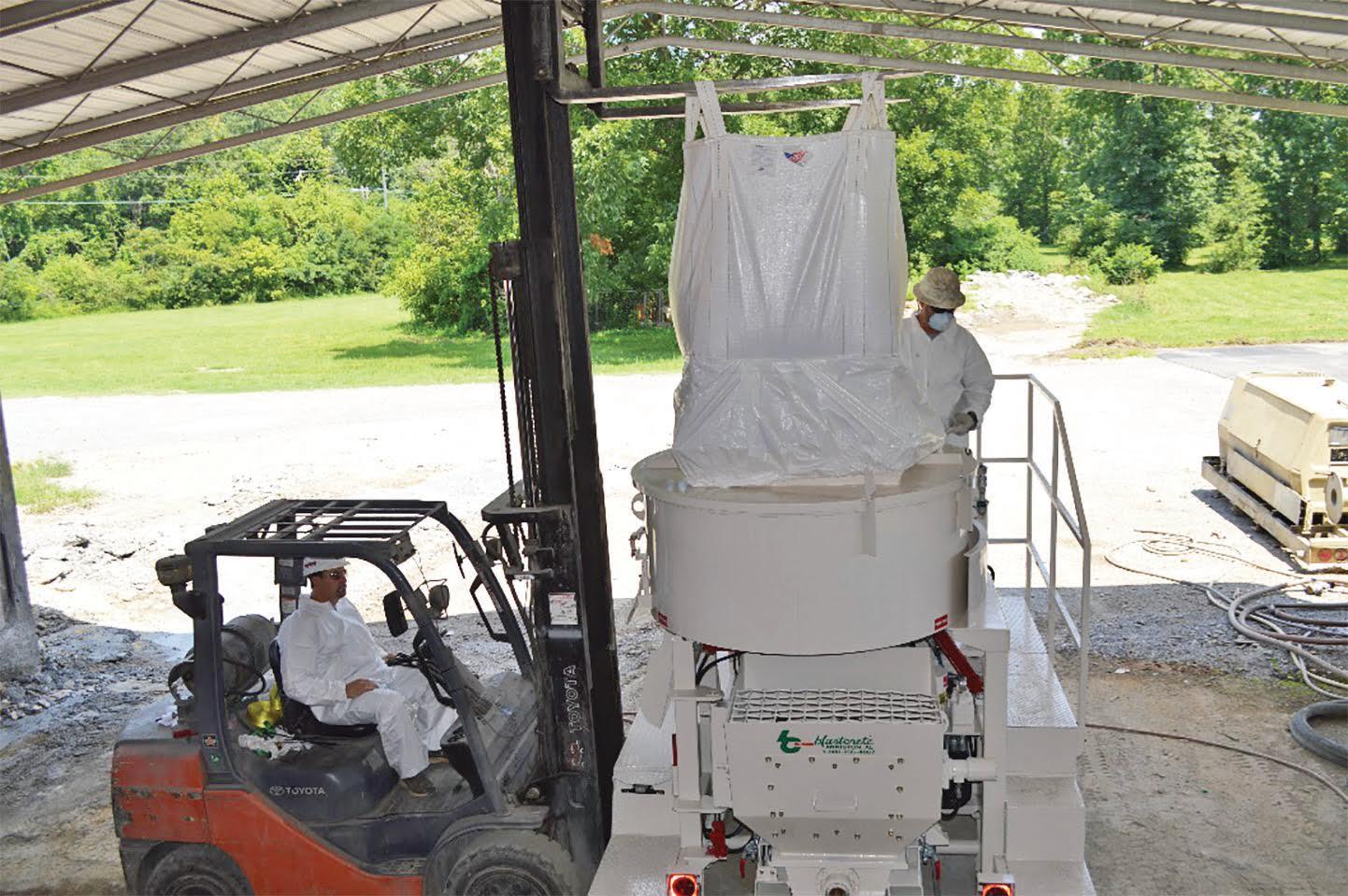 Concrete dust control bulk bag