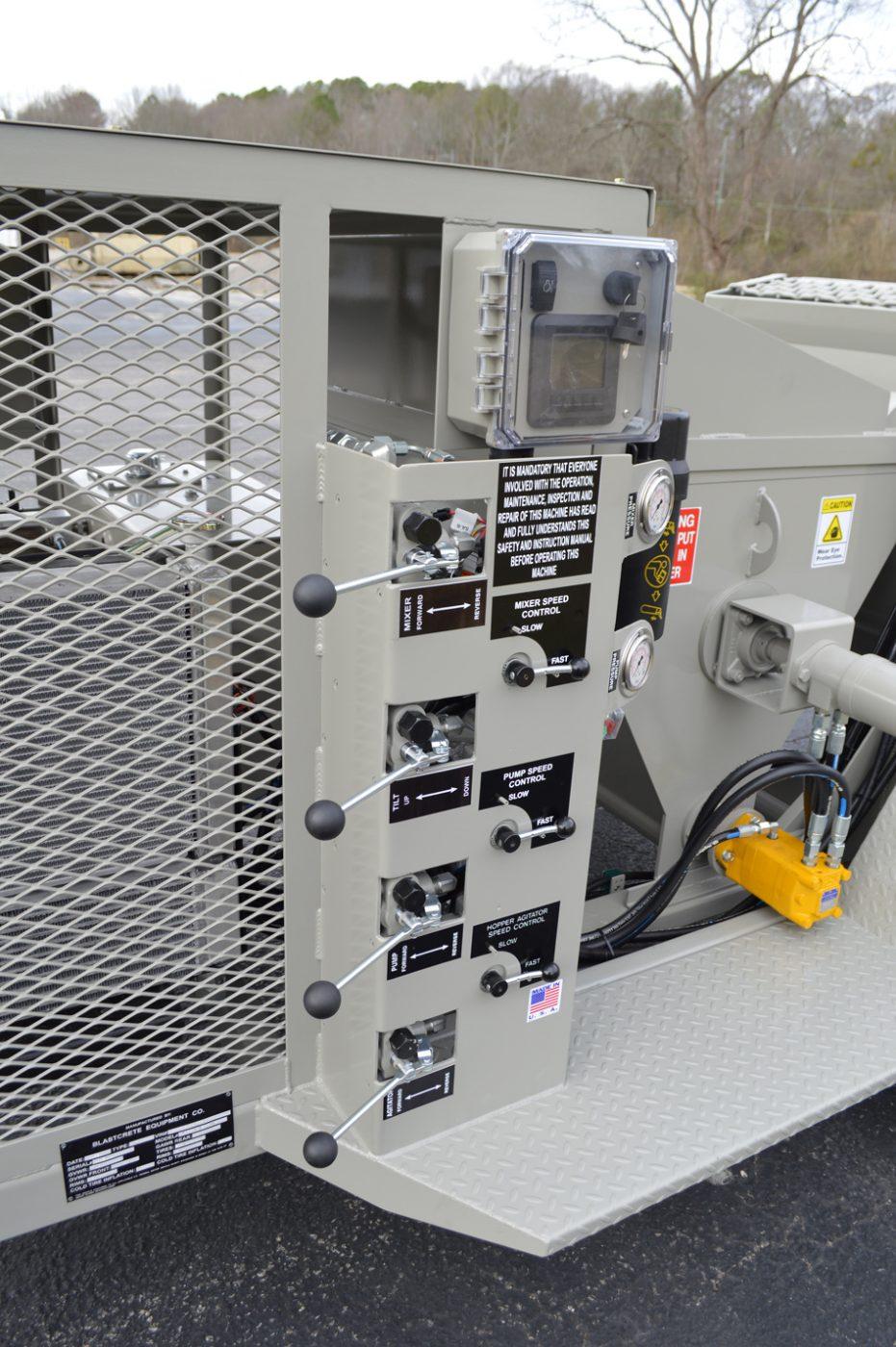 RS-60 Shotcrete Mixer-Pump Controls